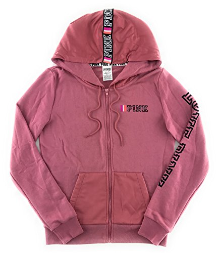Victoria's Secret PINK Perfect Zip Hoodie Soft Begonia X-Small by Victoria's Secret (Image #1)