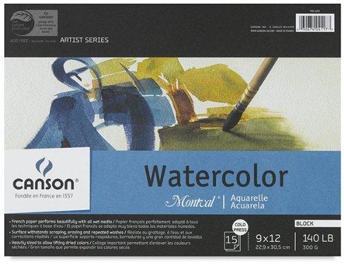 Canson Montval WaterFarbe Blocks 15 sheets Größe 12 x 16 by Canson B0025TZ5SG      Bekannt für seine hervorragende Qualität