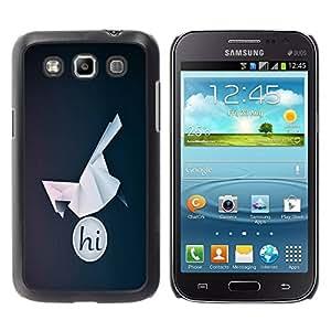 Paccase / SLIM PC / Aliminium Casa Carcasa Funda Case Cover para - HI Origami Bird - Samsung Galaxy Win I8550 I8552 Grand Quattro