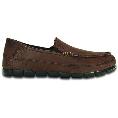 7b137a3ea34 Crocs Men s Stretch Sole Leather Loafer Espresso Black