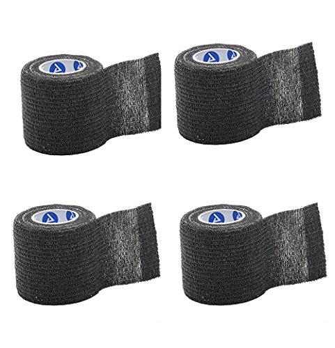 Black Sensi-Wrap for Tattoo Aftercare - Lightweight Self-Adherent Bandage (2