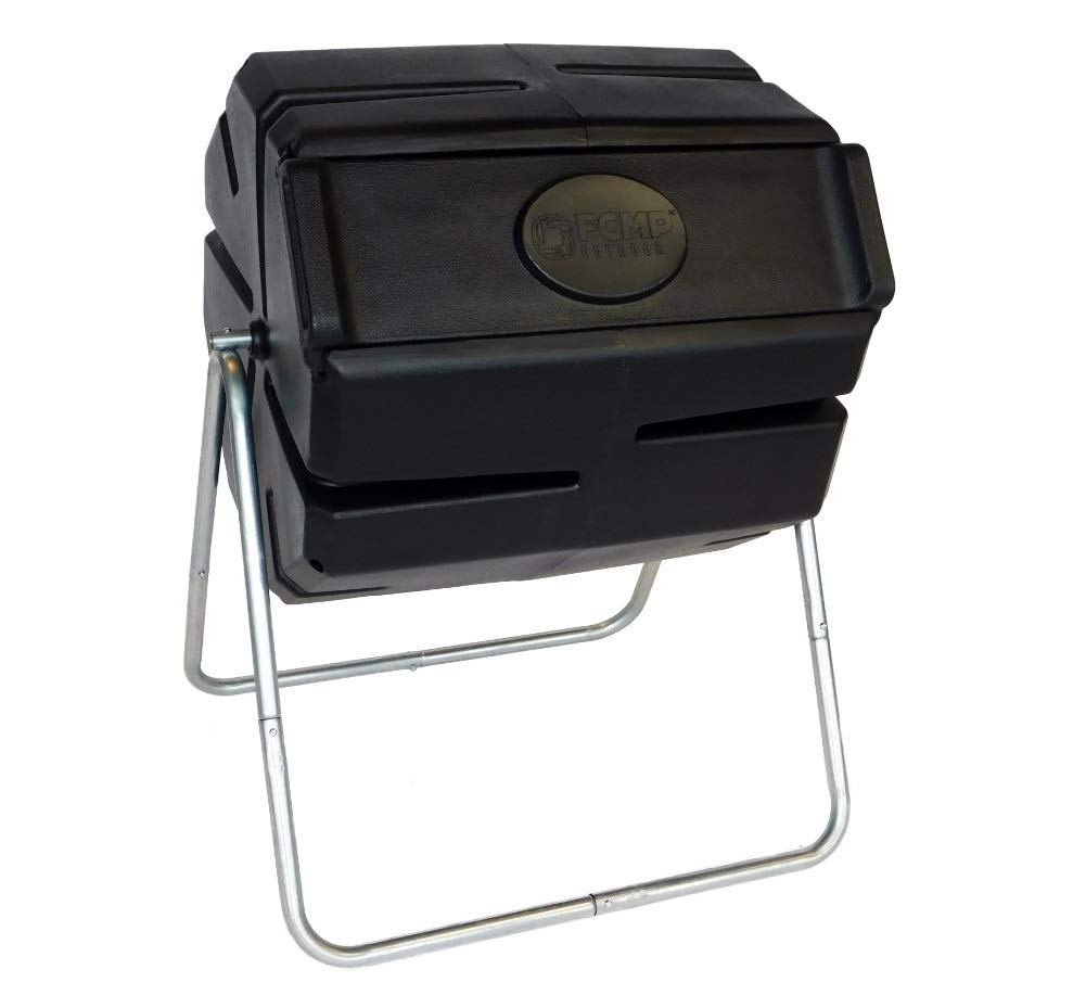 FCMP Outdoor Roto Tumbling Composter Black