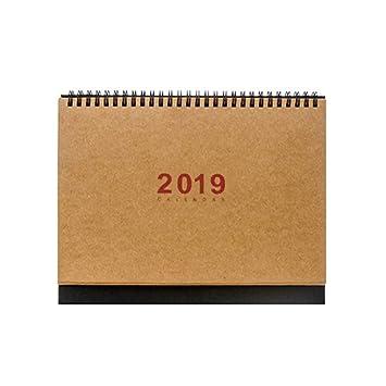 Calender 2019 - Planificador de mesa con soporte para hacer ...