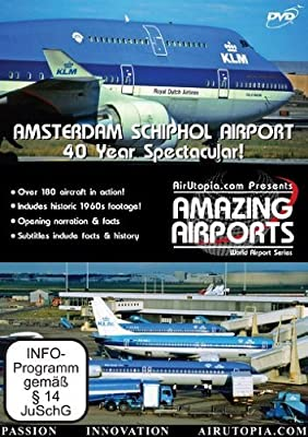 AirUtopia:Amsterdam Schiphol Airport Video DVD-(Airplanes, planes, Aircrafts)