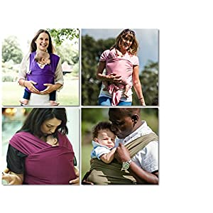 AmaWrap Stretchy Baby Wrap Sling Carrier Various Colours