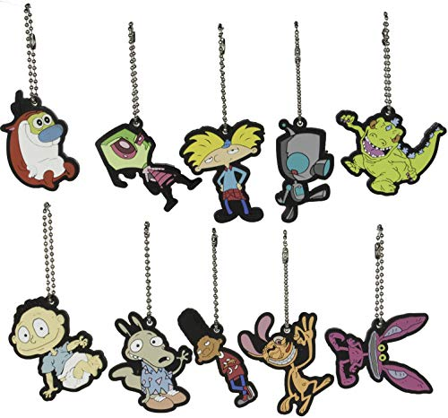 Store On Wheels Party Favors - Nickelodeon Nick 90s Key Chains/Charms Set of 10 Pieces ()