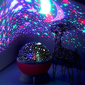 Elecstars Children's Night Light, Hand-held Design Touch Sensor Vibration Birdcage Lamp, Portable Night Lamp with USB Charging Cable for Kids/Babys Gifts (Projection lamp) ()