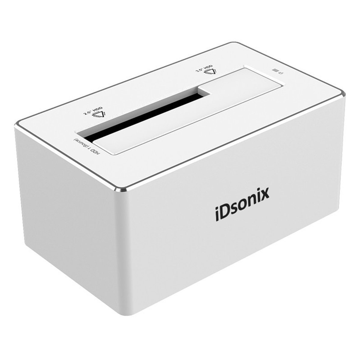 iDsonix USB 3.0 SATA III Aluminum HDD Docking Station for 2.5 3.5 inch HDD SSD UASP-Silver