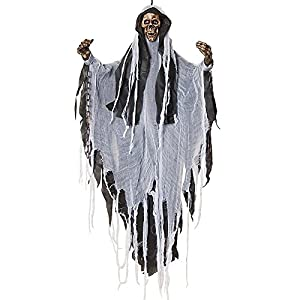 Morbid Enterprises Grim Reaper Skull Hanging Halloween Decorations