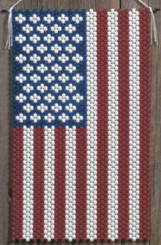 (American Glory Beaded Banner Kit The Beadery 5190 Pony Beads)