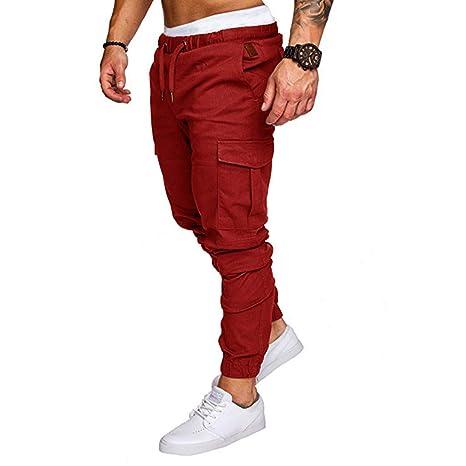 Pantalones Multibolsillos para Hombre, Pantalones de Tela, para ...