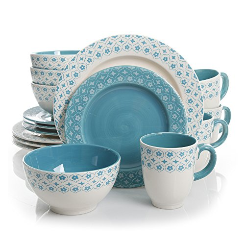Gibson General Store 16 Piece Cottage Chic Ceramic Dinnerware ()
