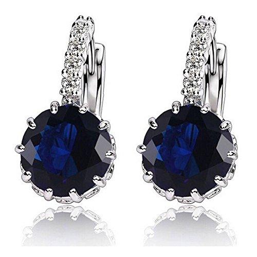 1-pair-fashion-women-elegant-crystal-rhinestone-silver-plated-ear-stud-earrings-royal-blue