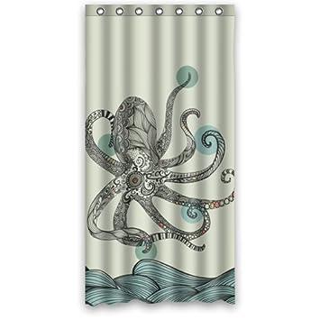Curtains Ideas 36 wide shower curtain : Amazon.com: Sea World Shower Curtain - Best Designed Octopus ...