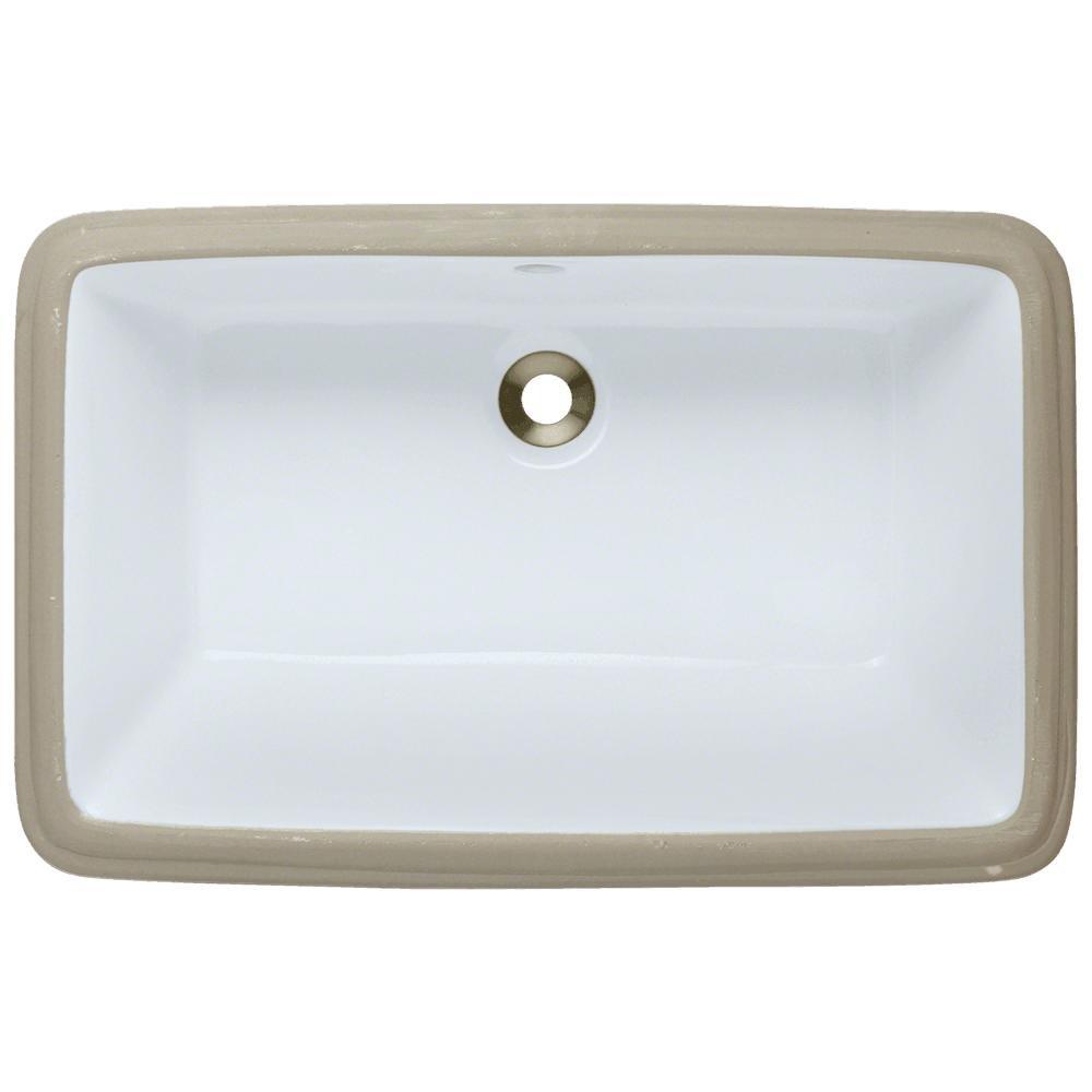 U1812-White Undermount Porcelain Bathroom Sink, Sink Only - Prints ...