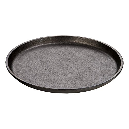OKSLO 9.25 round handleless seasoned cast iron serving griddle, l7ogh3