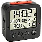 TFA 60.2528.01 - Reloj despertador digital, color negro