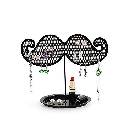 Baidercor Creative Mustache Gridding Jewelry Organizer Earring Holder Desk Decoration