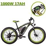 eBike_RICHBIT 022 Bicicleta Eléctrica Fat Tire neumático Bicicleta Eléctrica Cruiser Bicicleta eBike Ciclismo 1000W 48V 17AH 26 Pulgadas Mountain E Bike