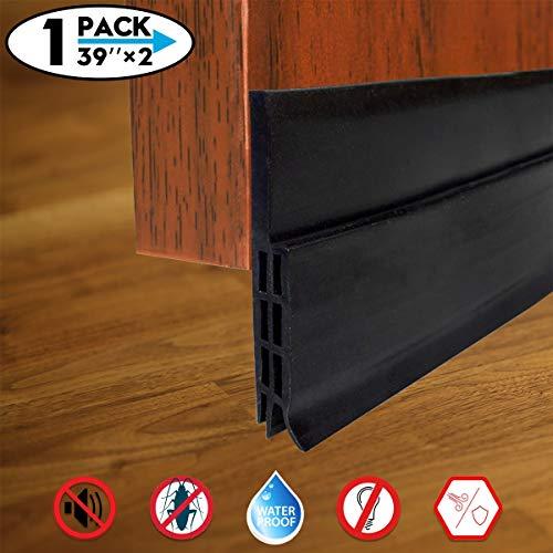 Door Draft Stopper, Self Adhesive Under Door Draft Blocker Seal, Door Bottom Weather Stripping, 2