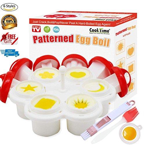Patterned Egg Cooker&Mold,Hard Boiled Egg Maker Without the