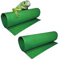 ASOCEA 2 alfombrillas de dragón barbudo para reptiles de lagarto terrario ropa de cama forro de sustrato suministros y…
