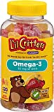 L'il Critters Omega-3 Gummy Fish with DHA, 120 Count, Pack of 3 (Packaging May Vary)