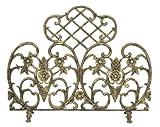Cheap Single Panel Antique Gold Cast Aluminum Screen