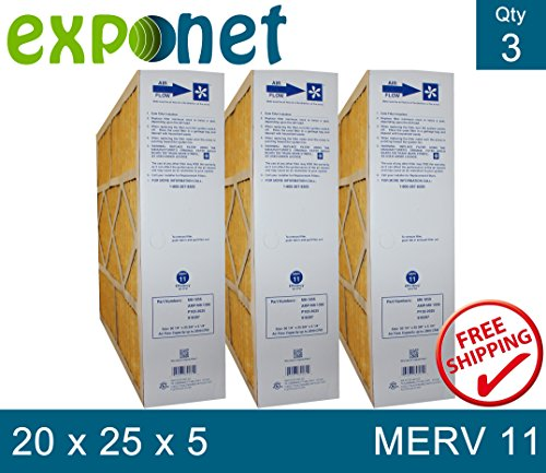 M8-1056 GENUINE 20x25x5 MERV 11 (Pack of 3)