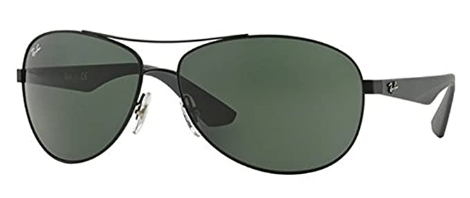 fad7811f220 Ray-Ban RB 3526 Sunglasses Matte Black   Grey Green 63mm   HDO Cleaning  Carekit