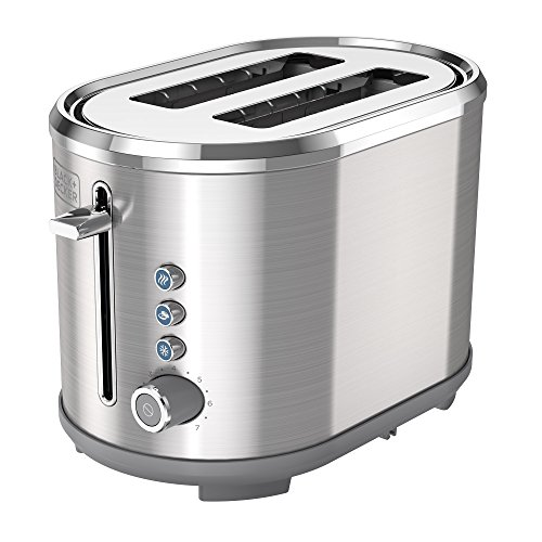 BLACK+DECKER TR2300SD 2-Slice Extra-Wide Slot Toaster, Bagel Toaster, Stainless Steel