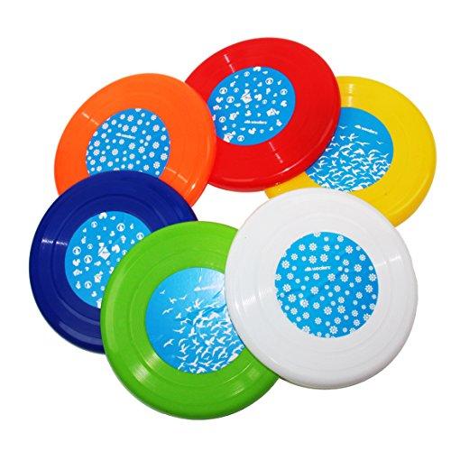 Wealers Family Fun 6 Flying Discs, Group Game, Frisbee, Vari
