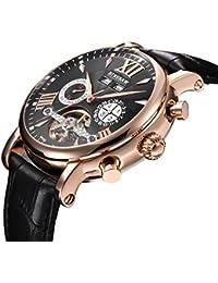 Men Full Automatic Mechanical Watch Tourbillon Luxury Brand Military Leather Sports Man Watch
