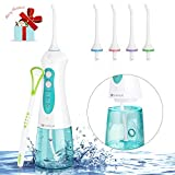 MARNUR Dental Oral Irrigator Cordless Water Flosser USB Rechargeable with 4 Jet Tips and Upgrade Water Tank for Braces and Teeth Cleaning,Travel and Home Use