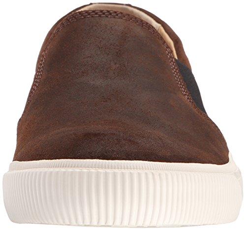 Frye Mens Miller Slip On Fashion Sneaker Marrone Scuro