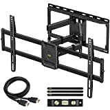 "USX MOUNT Full Motion TV Wall Mount for Most 47-84 inch Flat Screen/LED/4K TVs, TV Mount Bracket Dual Swivel Articulating Tilt 6 Arms, Max VESA 600x400mm, Holds up to 132lbs, Arms Up to 16"" Wood Stud"