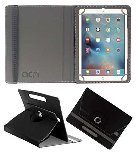 Acm Rotating 360 Leather Flip Case Compatible with Apple Ipad Pro 9.7 Tablet Cover Stand Black