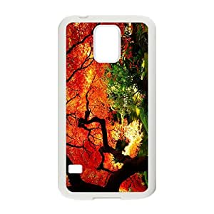 JIANADA Charming Orange Red Tree Hot Seller High Quality Case Cover For Samsung Galaxy S5