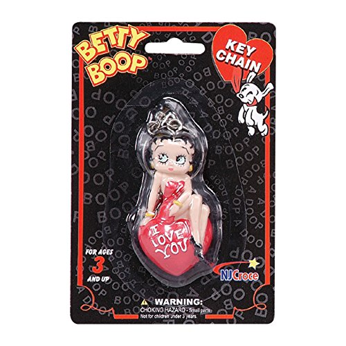 Officially Licensed Betty Boop I Love You 3D Keychain