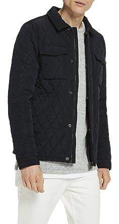bd08a5d62a1c Scotch   Soda Herren Jacke Gesteppt Shirt Jacket, Blau (Night 0002), Medium