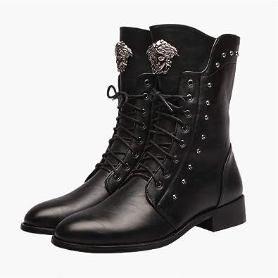 Bottes Boots Homme des Bottes pour Hommes,Black,43: Amazon