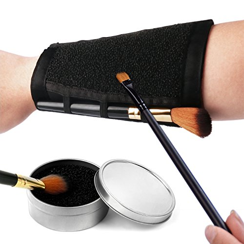 ESARORA Makeup Brushes Color Removal Cleaner Sponge & Armband More Easy to Switch or Remove Color from Your Brush