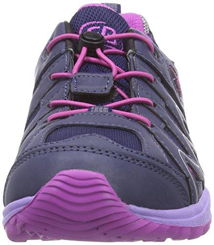 Bruetting Vision Low Kids - zapatillas de trekking y senderismo de material sintético niña Morado (Lila/pink)