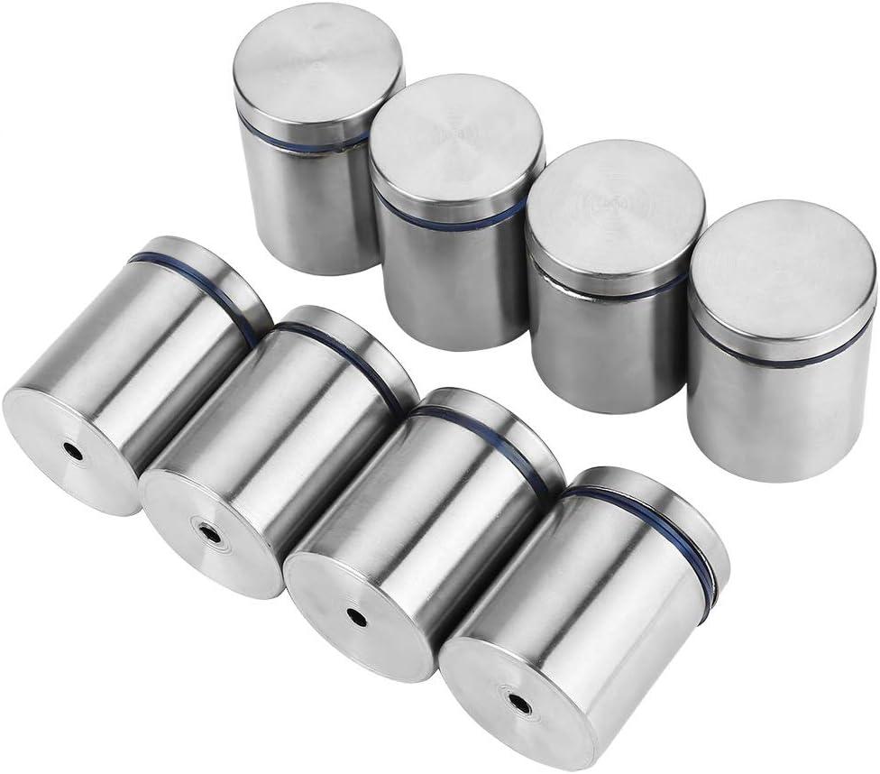 Separador de fijación de vidrio-8 piezas M38 * 50 mm de acero inoxidable Publicidad Pin de fijación Perno de montaje de separador de vidrio