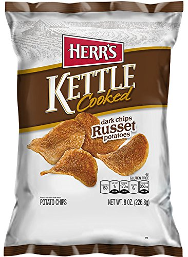 Herrs Kettle Cooked - Herr's - Russet Kettle Chips, Pack of 12 bags
