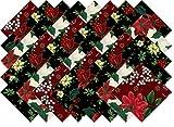 Christmas Poinsettia Holly Collection 40 Precut