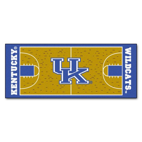 FANMATS NCAA University of Kentucky Wildcats Nylon Face Basketball Court Runner ()