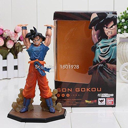 16cm Dragon Ball Z Son Goku Battle Genki Dama PVC Action Figure Model Toys Dragon Ball figure (Iron Man Cosplay Armor)