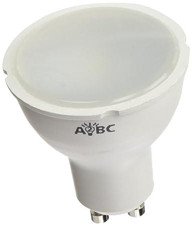 A2BC LED Lighting Bombilla LED GU10, 6 W, Blanco frío 6000K 5 unidades