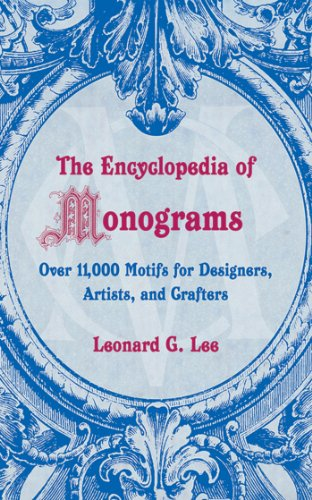The Encyclopedia of Monograms (Lettering Embroidery Card)